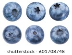 blueberries collection isolated ...   Shutterstock . vector #601708748