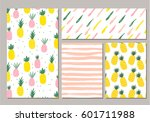 the set of patterns with... | Shutterstock .eps vector #601711988