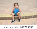 little girl relaxing in the... | Shutterstock . vector #601715030