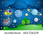 surreal landscape with big... | Shutterstock .eps vector #601726229