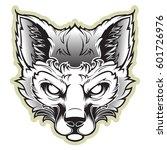 fox mascot for a sport team on...   Shutterstock .eps vector #601726976