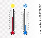 meteorology thermometers... | Shutterstock .eps vector #601728530