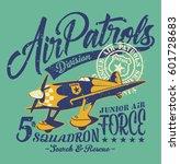 air patrols squadron  vintage... | Shutterstock .eps vector #601728683