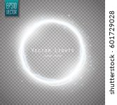 glow round frame with many... | Shutterstock .eps vector #601729028