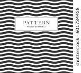 waves geometric seamless... | Shutterstock .eps vector #601734428