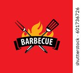 barbecue party logo | Shutterstock .eps vector #601736726