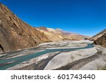 Small photo of Kali Gandaki River in the valley of Upper Mustang in Nepal