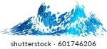 wave splash vector   Shutterstock .eps vector #601746206
