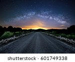 the milky way over a country... | Shutterstock . vector #601749338