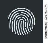 fingerprint recognition icon.... | Shutterstock .eps vector #601753874
