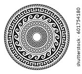 ancient greek round key pattern ... | Shutterstock .eps vector #601754180