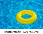 inflatable tube floating in...   Shutterstock . vector #601758398
