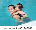 portrait of mother and little... | Shutterstock . vector #601765040
