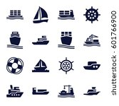 cruise icons set. set of 16... | Shutterstock .eps vector #601766900