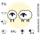 sheep icon  logo  template ... | Shutterstock .eps vector #601769708