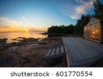 Beach House Terrace At Summer...