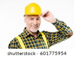 portrait of mature workman in... | Shutterstock . vector #601775954