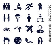 man icons set. set of 16 man... | Shutterstock .eps vector #601777010