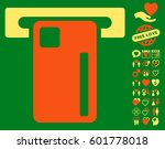 atm machine pictograph with...