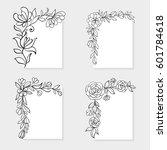 set of black and white hand... | Shutterstock .eps vector #601784618