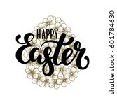 happy easter hand drawn... | Shutterstock .eps vector #601784630
