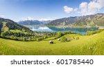 view over zell am see in summer ... | Shutterstock . vector #601785440