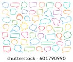 set of hand drawn colored... | Shutterstock .eps vector #601790990