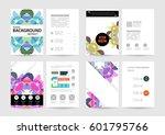 memphis geometric background... | Shutterstock .eps vector #601795766