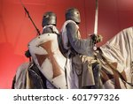 knights templar with armor on... | Shutterstock . vector #601797326