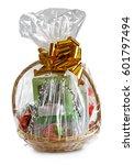 gift basket packed in... | Shutterstock . vector #601797494