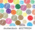 grunge spiral and round stamp... | Shutterstock .eps vector #601799024