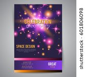 party celebration poster with... | Shutterstock .eps vector #601806098