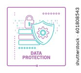 security shield. internet and... | Shutterstock .eps vector #601808543