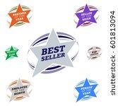 bestseller star label most... | Shutterstock .eps vector #601813094