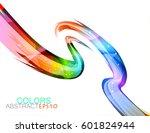 glossy colours scene vector... | Shutterstock .eps vector #601824944