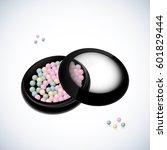 realistic blush bronzer balls ... | Shutterstock .eps vector #601829444