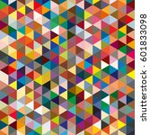 abstract geometric colorful...   Shutterstock .eps vector #601833098