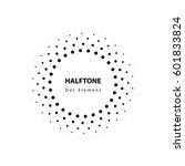 halftone vector element | Shutterstock .eps vector #601833824