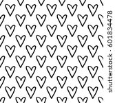 abstract heart pattern with... | Shutterstock . vector #601834478