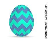 easter egg isolated on white... | Shutterstock .eps vector #601835384