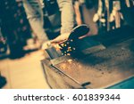 ski tuning and reapair. winter... | Shutterstock . vector #601839344