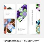 memphis geometric background... | Shutterstock .eps vector #601840994