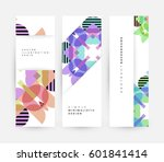 memphis geometric background... | Shutterstock .eps vector #601841414