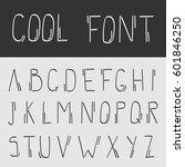 handwriting alphabet vol.2 | Shutterstock .eps vector #601846250