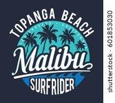 surf sport rider malibu... | Shutterstock .eps vector #601853030