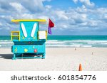 south beach  miami  florida ... | Shutterstock . vector #601854776