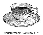 coffee cup illustration ... | Shutterstock .eps vector #601857119