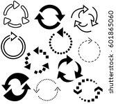 big set of arrows for design... | Shutterstock .eps vector #601865060