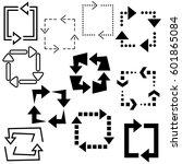 big set of arrows for design... | Shutterstock .eps vector #601865084