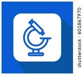 microscope vector icon | Shutterstock .eps vector #601867970